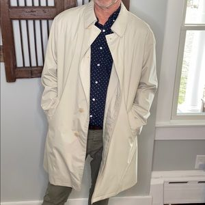 BURBERRY MEN'S COLLAR BUTTON DOWN TRENCH COAT XL